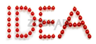 Red Christmas Ball Ornament Building Word Idea