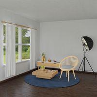 Living room corner with garden view