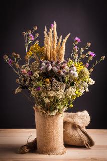 Wildflowers in a vase