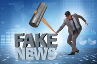 Fake news concept in information manipulation concept