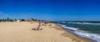 Deserted beach in Rybakovka, Ukraine
