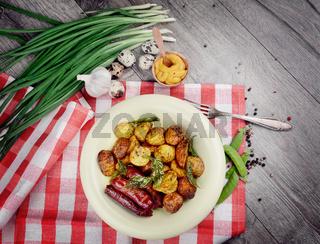 New roasted baked potato