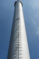 Chimney of a biomass power plant