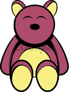 Baby bear icon cartoon