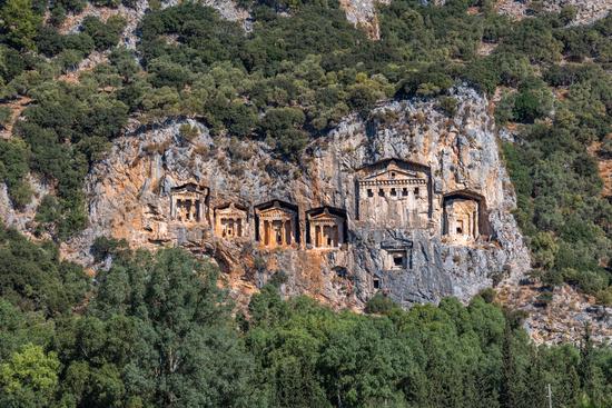 Kings Tombs of Kaunos near Dalyan,Turkey.