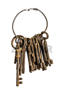 antique keys on a ring