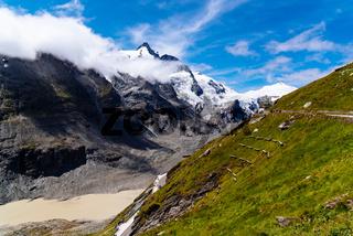 Scenic View of Grossglockner Glacier, Alps Mountain Range, Austria