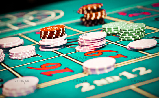 Betting and playing roulette in casino, gambling ad