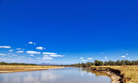 landscape at the Luangwa River, Zambia