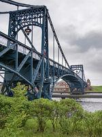 Kaiser Wilhelm bridge, landmark of city Wilhelmshaven, Germany