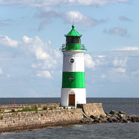 Lighthouse of Schleimünde at Western coast of Baltic Sea