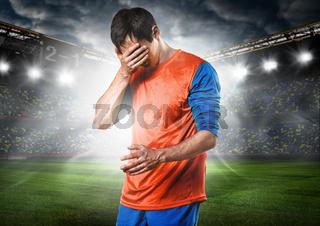 sad soccer player