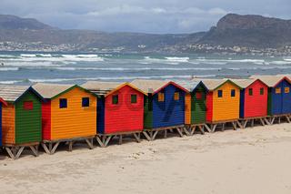 Strandhäuser in Muizenberg