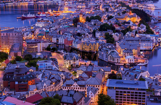 Cityscape of Alesund - Norway