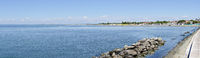 coast and beach of Costa azzura at Grado