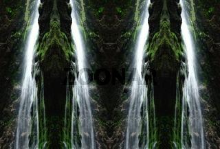 in der Wasserwand-die Wasserfälle