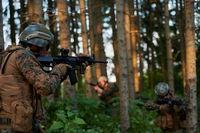 Modern warfare Soldiers  Squad  in battle