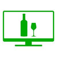 Weinglas und Monitor - Wine glass and screen