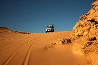Landscape of the desert near El Gouna