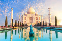 Famous Taj Mahal complex, beautiful view, Agra, Uttar Pradesh, India