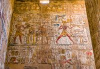 Wall with hieroglyphs