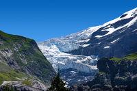 mountains around grindelwald in Switzerland