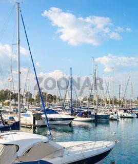 Marina yachts motorboats citycsape Cyprus