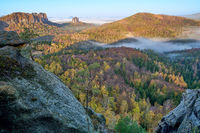 Elbe Sandstone Mountains in autumn