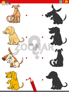 shadow game with dogs animal characters