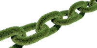 A isolated green chain
