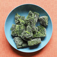 frozen spinach vegetables food