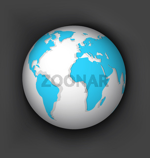 White globe vector