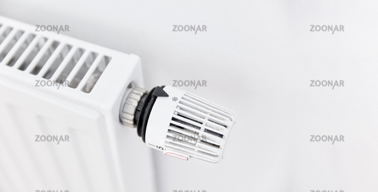 Thermostat von Heizung ist aus um Energie zu sparen