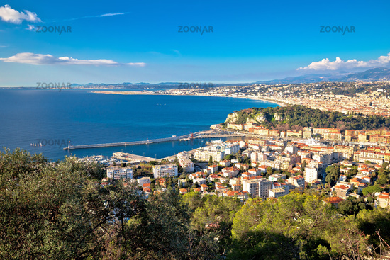 City of Nice waterfront panoramic view, French riviera