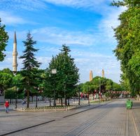 Sultan Ahmed Park in Istanbul, Turkey