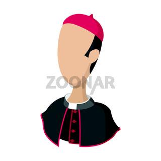 Cardinal, catholic priest cartoon icon
