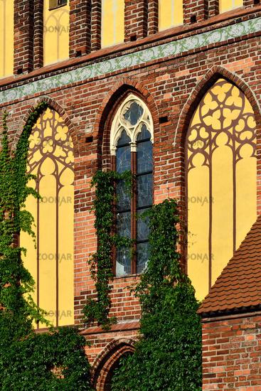 Koenigsberg Cathedral, facade fragment