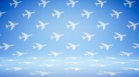 Empty Blank Airplane Shape Pattern Studio Background