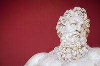 Ancient bust of Zeus