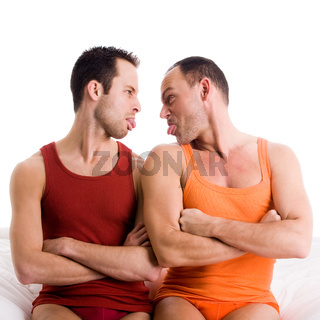 Homo couple sticks tonque out
