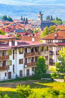 Summer panorama in Bansko, Bulgaria