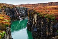 Jokulsa a Dal river canyon, Iceland