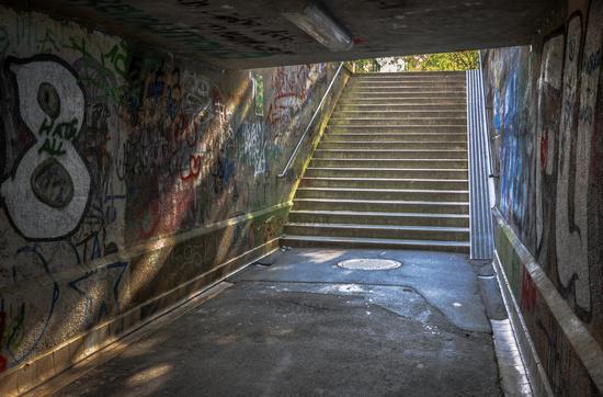 The pedestrian tunnel
