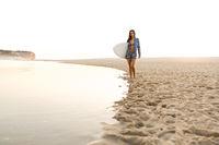 Beautiful surfer girl