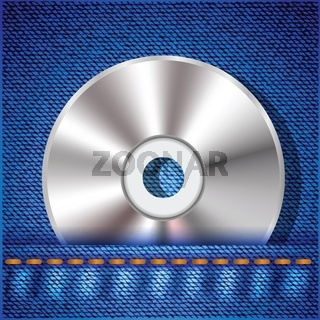 CD on a jeans background