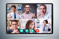 Concept of virtual collaboration through videoconferencing