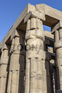 Papyrus shaped colonnade of Amenhotep III