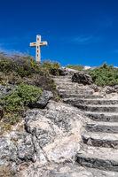 Treppe zum Kreuz