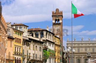 Verona Marktplatz - Verona town square 01