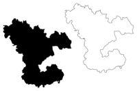 Ludza Municipality (Republic of Latvia, Administrative divisions of Latvia, Municipalities and their territorial units) map vector illustration, scribble sketch Ludza map